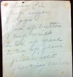 Maw Maw's hand-written recipe