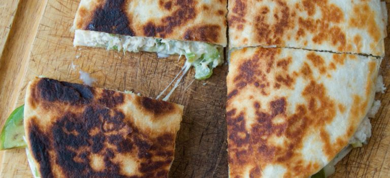 What to Eat During Cancer Treatment: Tuna Melt Quesadilla