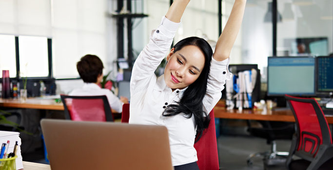 12 Exercises to Do at Your Desk