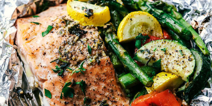 Salmon & Veggie Foil Packets
