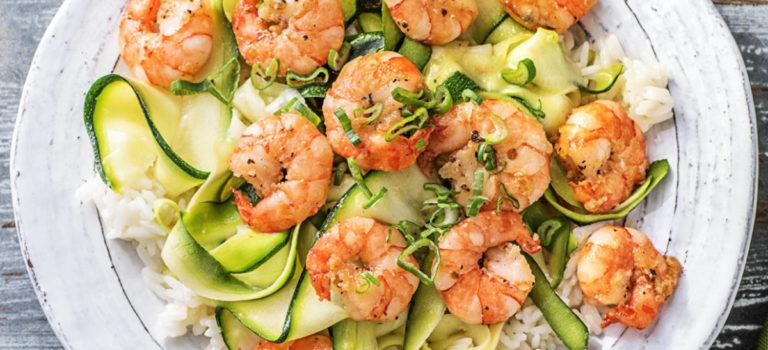 Lenten Recipes: Basil Shrimp & Zucchini