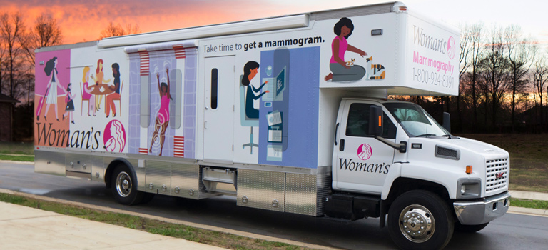 Book Woman's Mobile Mammography Coach